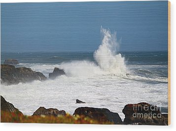 Wood Print featuring the photograph California Coast4 by Theresa Ramos-DuVon