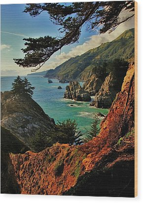 California Coastline Wood Print