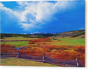 Wood Print featuring the photograph California Creek Homestead by Kevin Bone