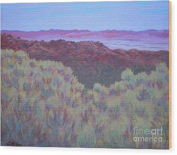 California Dry River Bed Wood Print