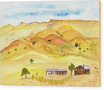 California Foothill Homestead Wood Print