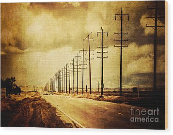 California Highway Wood Print by Pam Vick