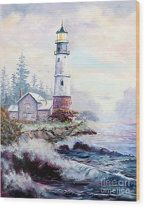 California Lighthouse Wood Print by Lee Piper