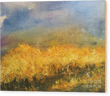 California Orchards Wood Print by Sherry Harradence