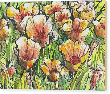 California Poppies Wood Print by Terry Banderas