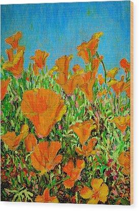 California Poppy Painting Wood Print