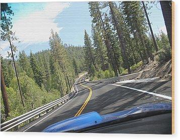 California Road Wood Print by Dean Drobot