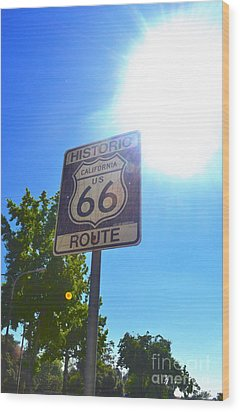 Wood Print featuring the photograph California Route 66 by Utopia Concepts