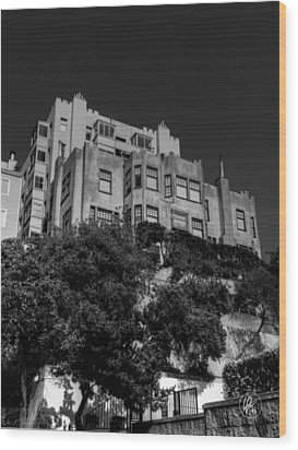 California - San Francisco 002 Wood Print by Lance Vaughn