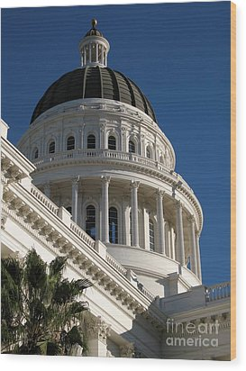 California State Capitol Dome Wood Print