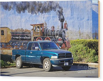 California Steamin' Wood Print by Andrea Simon