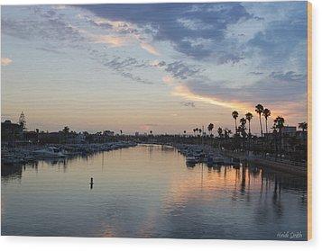 California Sunset Wood Print by Heidi Smith