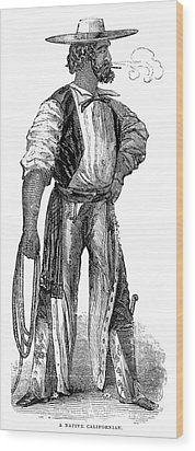 Wood Print featuring the painting California Vaquero, 1852 by Granger