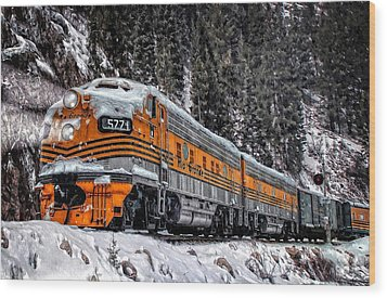 California Zephyr Wood Print by Ken Smith