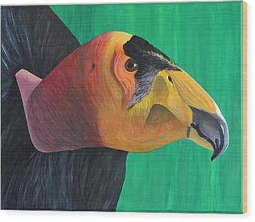 Californian Condor Wood Print by Aileen Carruthers
