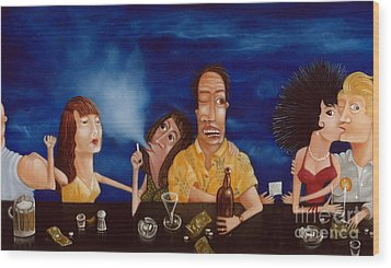 Call Me 1995 Wood Print by Larry Preston