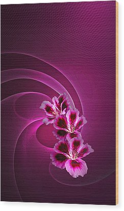 Wood Print featuring the photograph Call Me Pink by Judy  Johnson