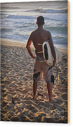 Wood Print featuring the photograph Call Of The Surf by Gina Savage