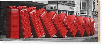 Call Waiting Wood Print by John Topman