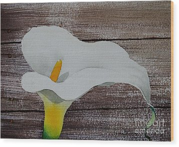 Calla In The Delta Wood Print