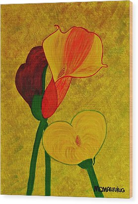Calla Lilly Wood Print