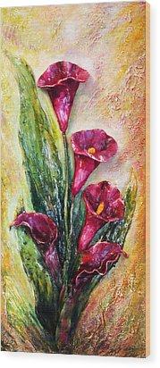 Calla Lily - 3d Expression Wood Print