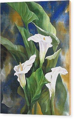 Calla Lily Wood Print by Alfred Ng