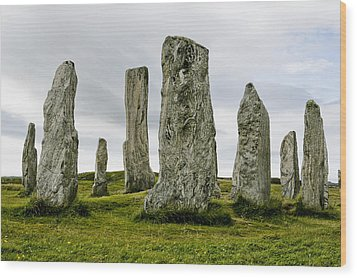 Callanish Standing Stones Wood Print by Toby Adamson