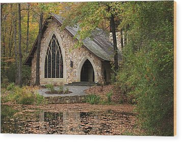 Callaway Chapel Wood Print by Mountains to the Sea Photo