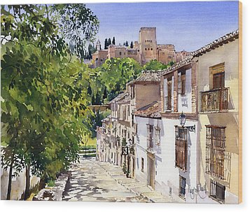 Calle Victoria Granada Wood Print by Margaret Merry