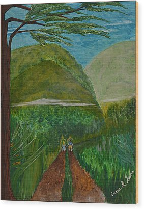 Wood Print featuring the painting Called To The Mission Field by Cassie Sears