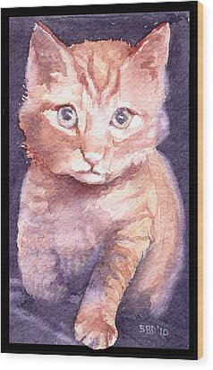 Callie's Cats Wood Print by Sarah Buell  Dowling