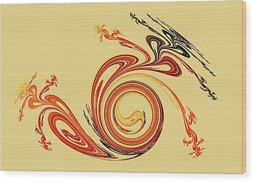 Calligraphy Wood Print by Anastasiya Malakhova