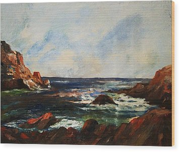 Wood Print featuring the painting Calm Cove by Al Brown