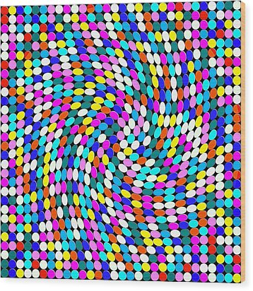 Calm Dots Wood Print