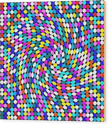 Calm Dots Wood Print by George Curington