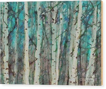 Calm Wood Print by Elizabeth Coats