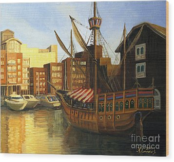 Calm Harbor Wood Print by Kiril Stanchev