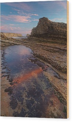 Wood Print featuring the photograph Panther Beach - Calm  by Francesco Emanuele Carucci