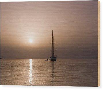 Calm Sea And Quiet Voyage Wood Print