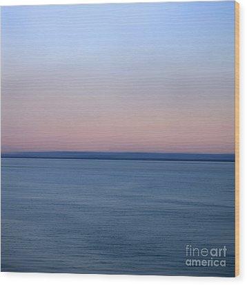 Calm Sea Wood Print by Bernard Jaubert