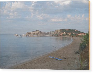 Wood Print featuring the photograph Calm Sea by George Katechis