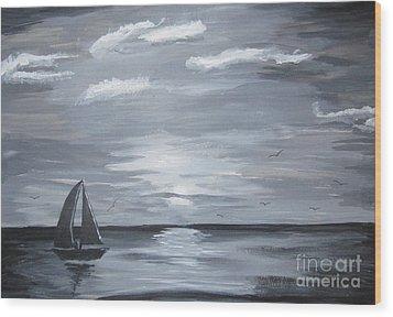 Calm Seas Wood Print by Haleema Nuredeen