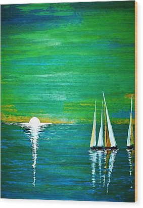 Calm Seas Wood Print