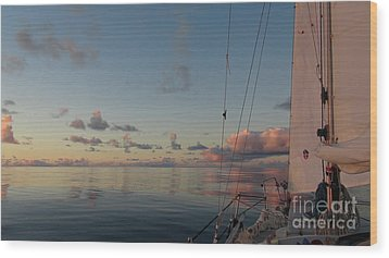 Wood Print featuring the photograph Calm Seas by Laura  Wong-Rose