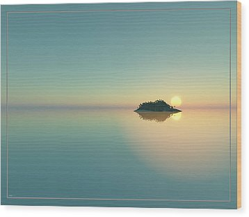 Calm Seas Sunset... Wood Print by Tim Fillingim