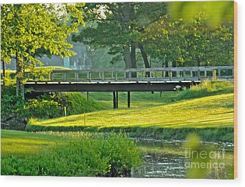 Wood Print featuring the photograph Calm Summer Night by Jim Lepard