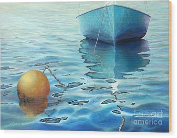 Calm Turquoise Sea Wood Print