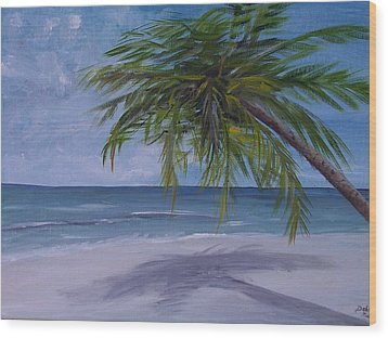 Wood Print featuring the painting Calm Waters by Debbie Baker