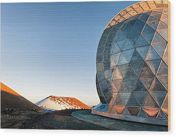 Wood Print featuring the photograph Caltech Submillimeter Observatory by Jim Thompson
